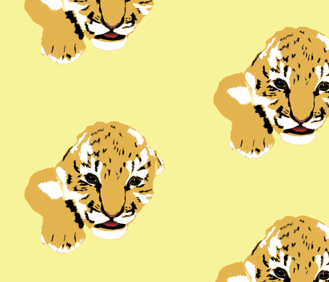 Cute Baby Tiger fabric by animotaxis on Spoonflower - custom fabric