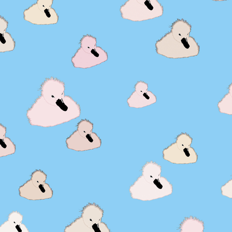 Gosling Babies fabric by animotaxis on Spoonflower - custom fabric