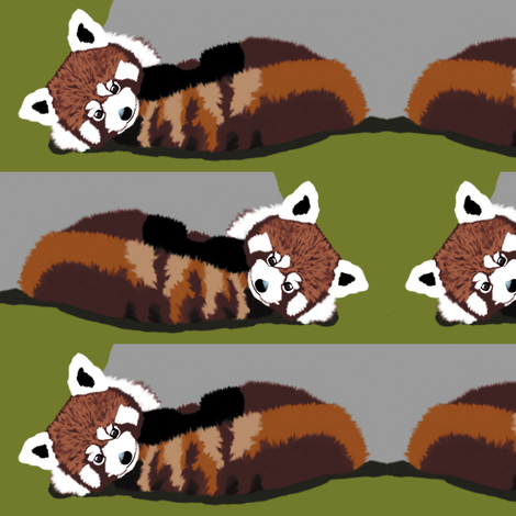 Red Panda Bears fabric by animotaxis on Spoonflower - custom fabric