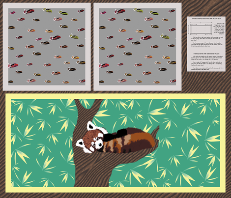 Red Panda Pillow Slip fabric by animotaxis on Spoonflower - custom fabric