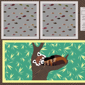 Red Panda Pillow Slip