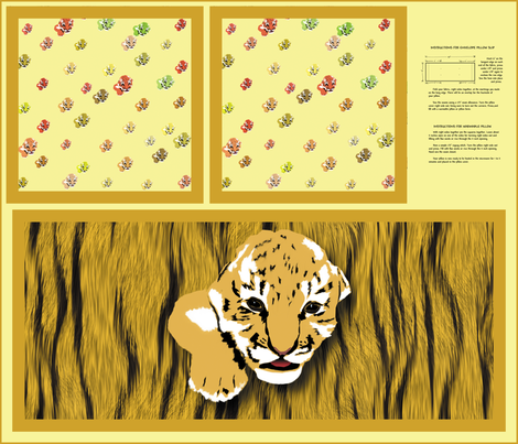 Tiger Pillow Slip fabric by animotaxis on Spoonflower - custom fabric