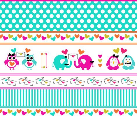 Love Letters fabric by twinklesprinkleshop on Spoonflower - custom fabric