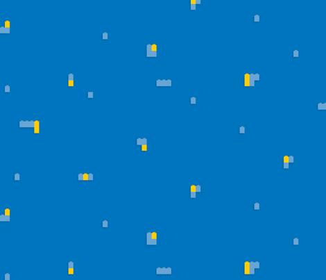 Interlocking Brick Wall Solid - blue fabric by linkolisa on Spoonflower - custom fabric