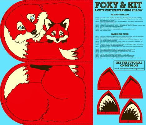 Foxy & Kit fabric by looksey+howe on Spoonflower - custom fabric