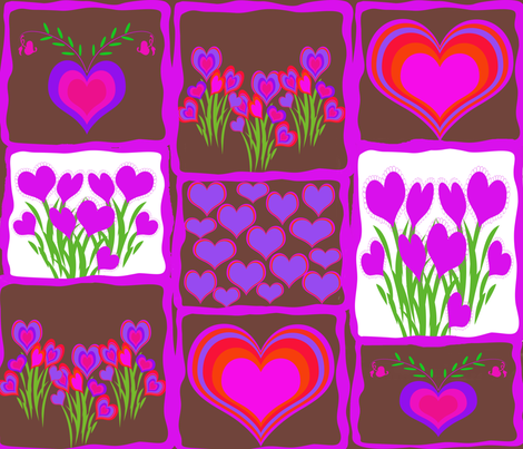 vdaycard5 fabric by beaulle on Spoonflower - custom fabric