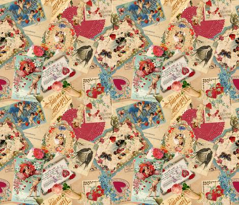 Vintage Valentine  fabric by miart on Spoonflower - custom fabric