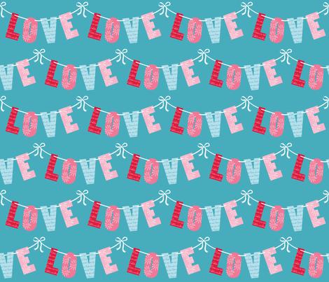 LOVE_LETTERS_©LISA_DEIGHAN_2013 fabric by lisa_deighan on Spoonflower - custom fabric