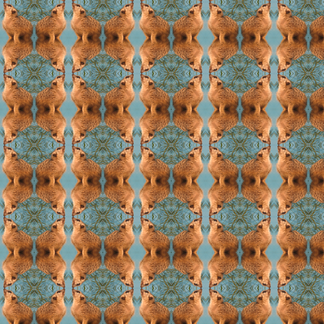 Meerkat Geometric fabric by ravynscache on Spoonflower - custom fabric