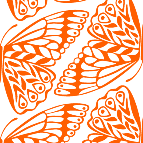 Mod Max Moth fabric by betzwhite on Spoonflower - custom fabric