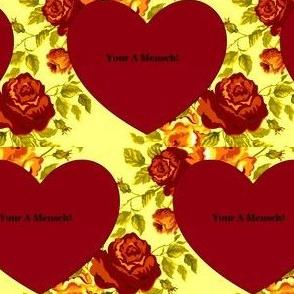 Jewish Valentine - Your A Mensch!