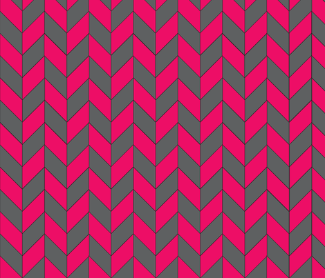 Gray-Pink Herringbone fabric by gates_and_gables on Spoonflower - custom fabric