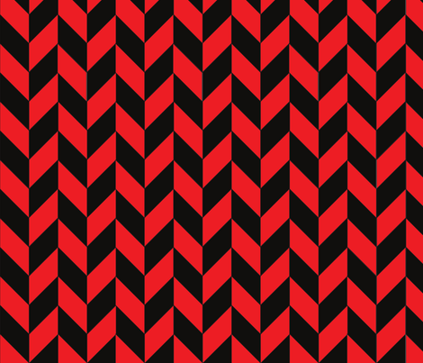 Black-Red Herringbone fabric by megankaydesign on Spoonflower - custom fabric