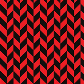 Black-Red Herringbone