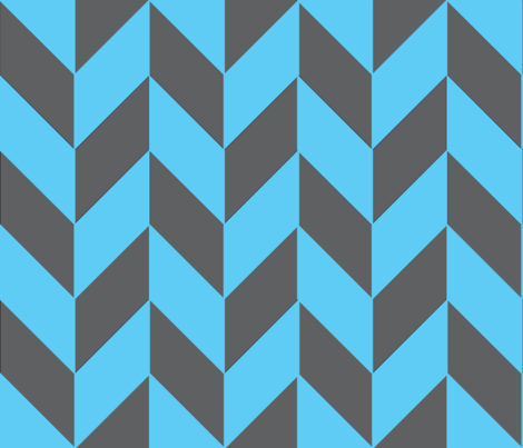 Large Gray-Teal Herringbone fabric by megankaydesign on Spoonflower - custom fabric