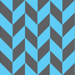 Large Gray-Teal Herringbone