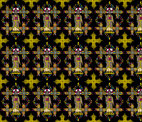 Ethiopian Christ fabric by pkfridley on Spoonflower - custom fabric