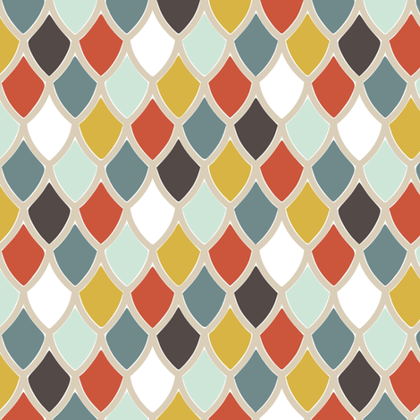 ScallopsBlue fabric by mrshervi on Spoonflower - custom fabric