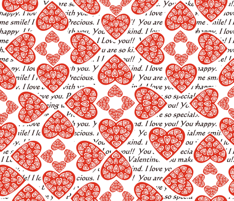 Heart Confessions fabric by createdgift on Spoonflower - custom fabric