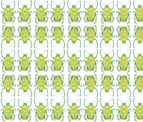 Greenish Beetle fabric by bad_penny on Spoonflower - custom fabric