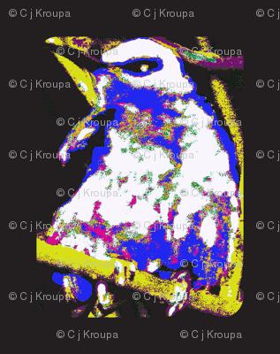 Stylized Bee Eater (Black/Large)
