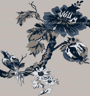 Botanical  Tree / indigo
