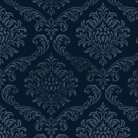 Timeless brocade/ indigo fabric by paragonstudios on Spoonflower - custom fabric