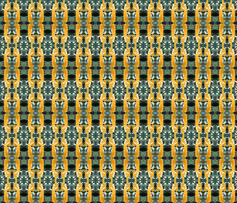 Yellow Shrimp Plant Chain fabric by ravynscache on Spoonflower - custom fabric
