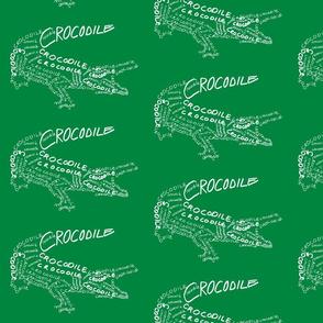 Crocodile Calligram