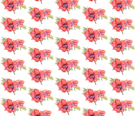 Poppy Fields fabric by engelstudios on Spoonflower - custom fabric