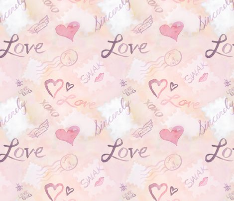 love_letters_mailed fabric by blue-eyedsusan on Spoonflower - custom fabric