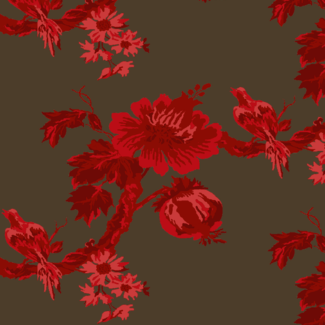 Botanical Tree /  Rouge fabric by paragonstudios on Spoonflower - custom fabric
