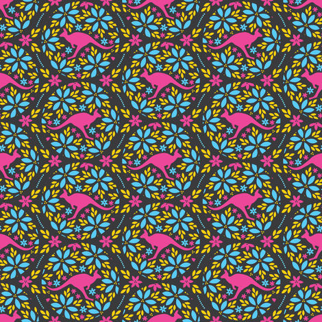 Flowers & Roos (Small) fabric by robyriker on Spoonflower - custom fabric