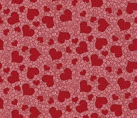Pink Hearts are Wild fabric by robyriker on Spoonflower - custom fabric