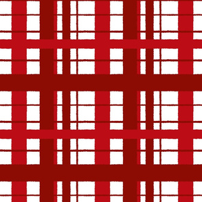 Timeless plaid / ikat Rouge