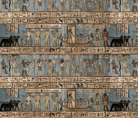 """Egyptian Hieroglyphs"" fabric by jeanfogelberg on Spoonflower - custom fabric"