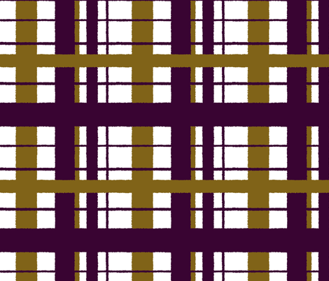 Timeless plaid / ikat eggplant fabric by paragonstudios on Spoonflower - custom fabric