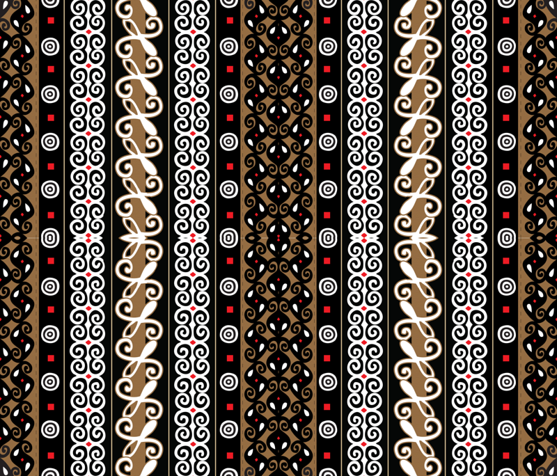 Adinkra Cloth giftwrap - illustrative_images - Spoonflower