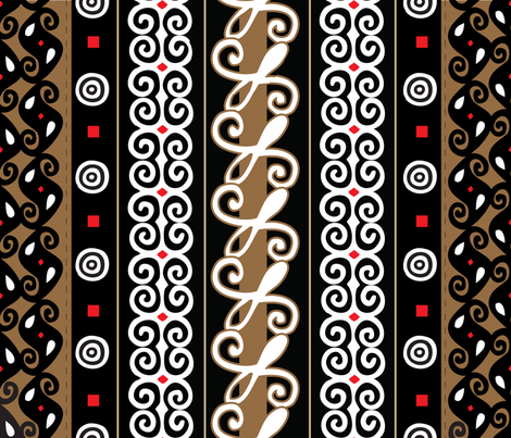 Adinkra Cloth fabric by illustrative_images on Spoonflower - custom fabric