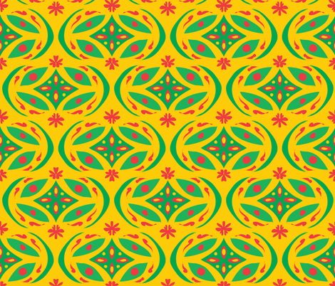 jugendstil brazil fabric by studiojelien on Spoonflower - custom fabric