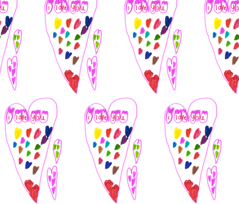 I love you fabric by hevilja on Spoonflower - custom fabric