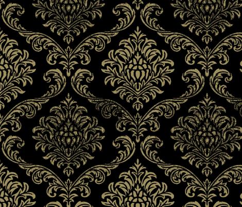Timeless brocade/ black fabric by paragonstudios on Spoonflower - custom fabric