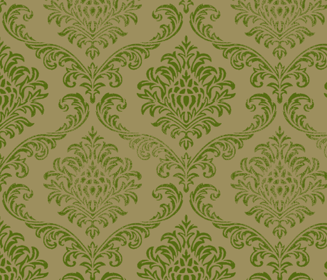 Timeless brocade/ Fern fabric by paragonstudios on Spoonflower - custom fabric