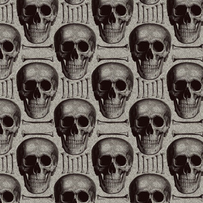 Burlap skulls&bones medium