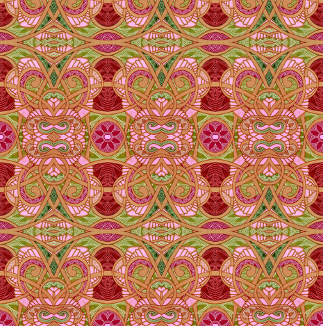 Faded Pink and Green Abstract Weave fabric by edsel2084 on Spoonflower - custom fabric