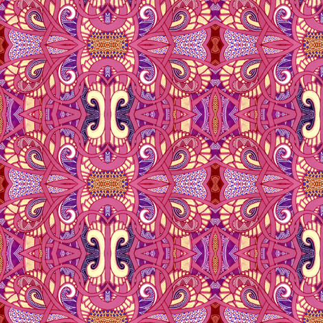 Stained Glass Deco (in Barbie puke pink) fabric by edsel2084 on Spoonflower - custom fabric