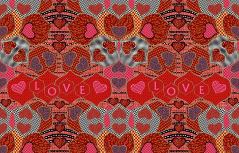 Hearts in Vegas fabric by rubydoor on Spoonflower - custom fabric