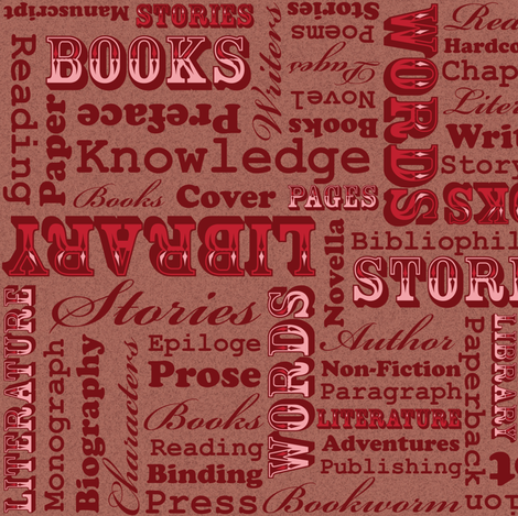 A Book Lover's Medley (Pink) fabric by robyriker on Spoonflower - custom fabric