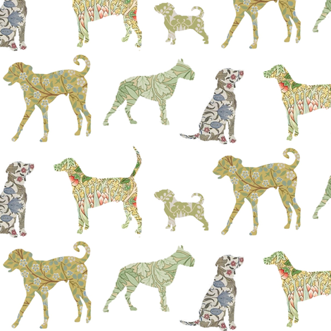 The hounds of William Morris fabric by ragan on Spoonflower - custom fabric