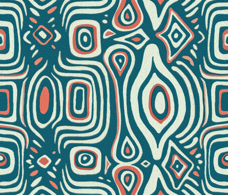 Michelle Blue fabric by chicca_besso on Spoonflower - custom fabric